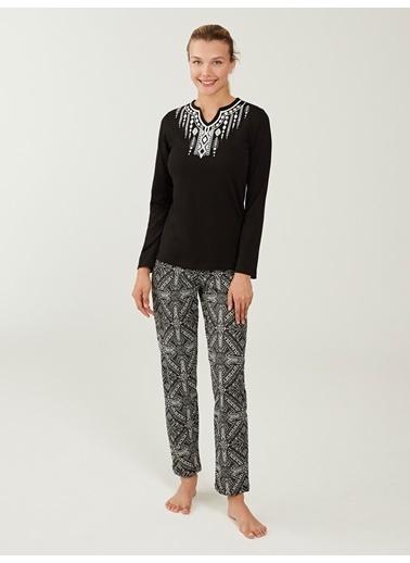 Mod Collection Kadın Pijama Takımı Siyah